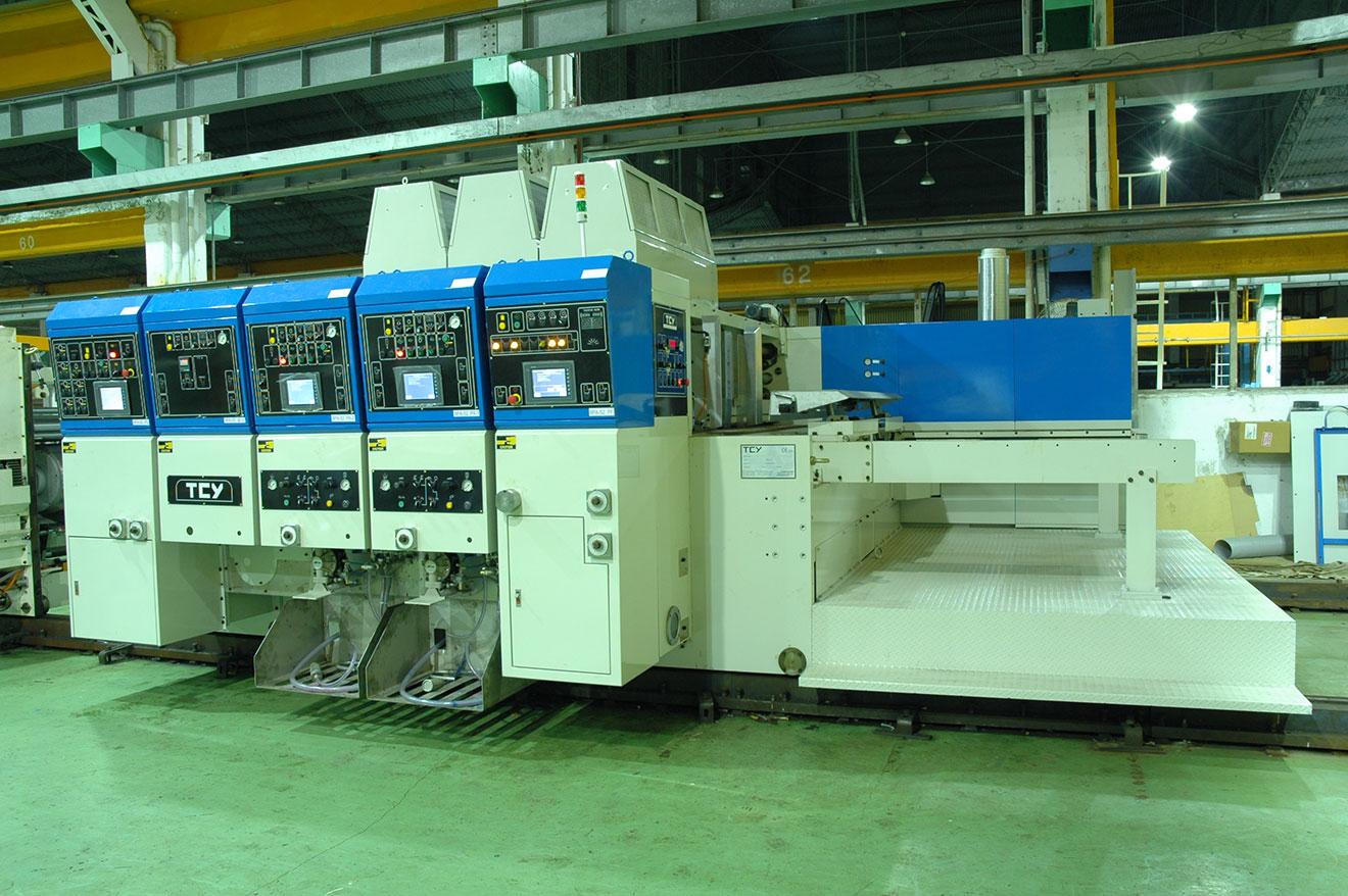 Автоматическая высокоскоростная поточная моторизированная линия для производства гофротары Minline 9PA-FGT