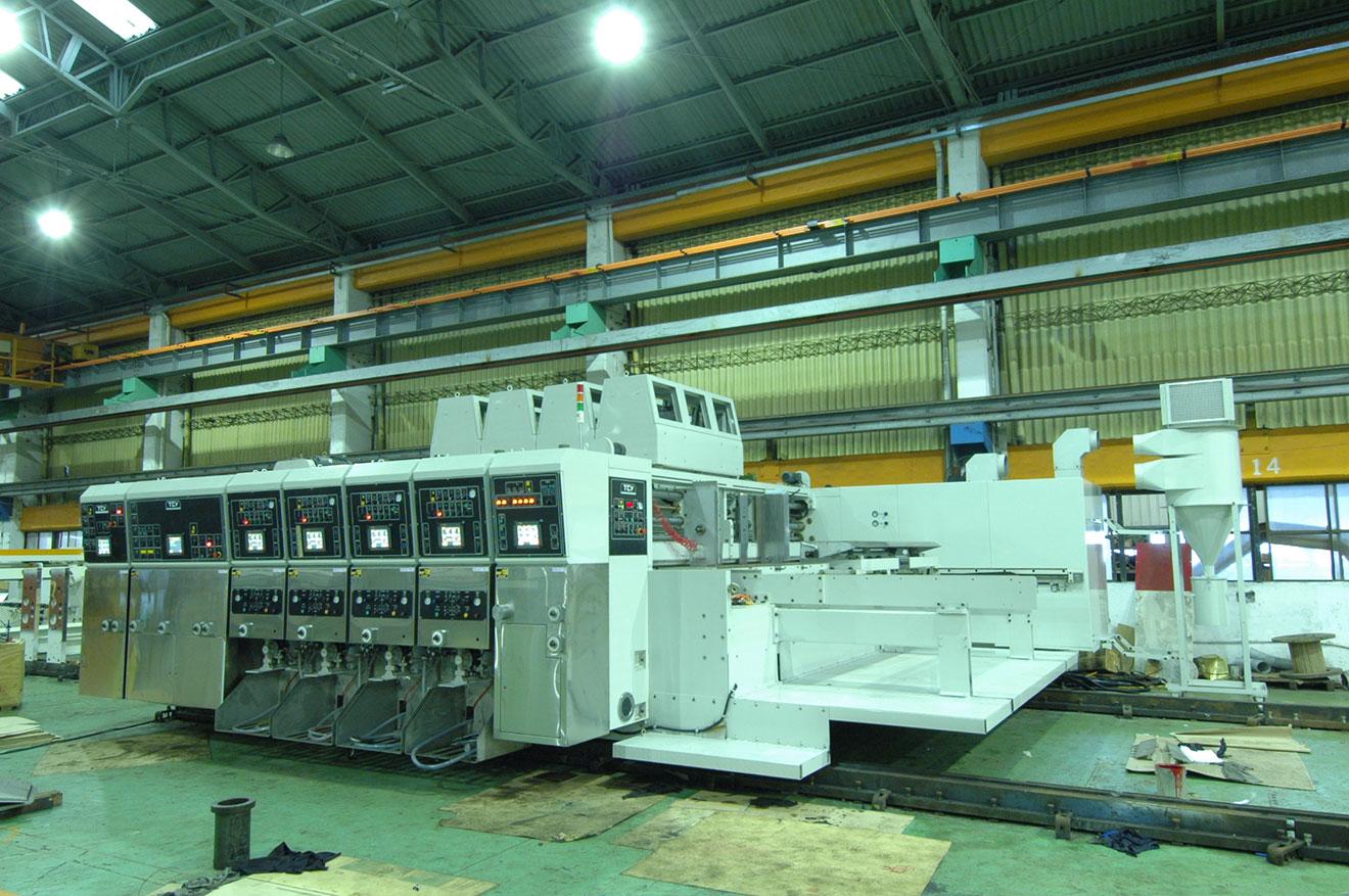 Автоматическая высокоскоростная поточная линия для производства гофротары Maxline 8PA-FG