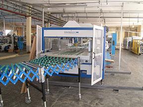 ООО «Альтернатива+». Поставка машины для автоматического выравнивания и обвязки стопок гофрокоробов, модель MCB-2/1300 («Mosca», Германия)