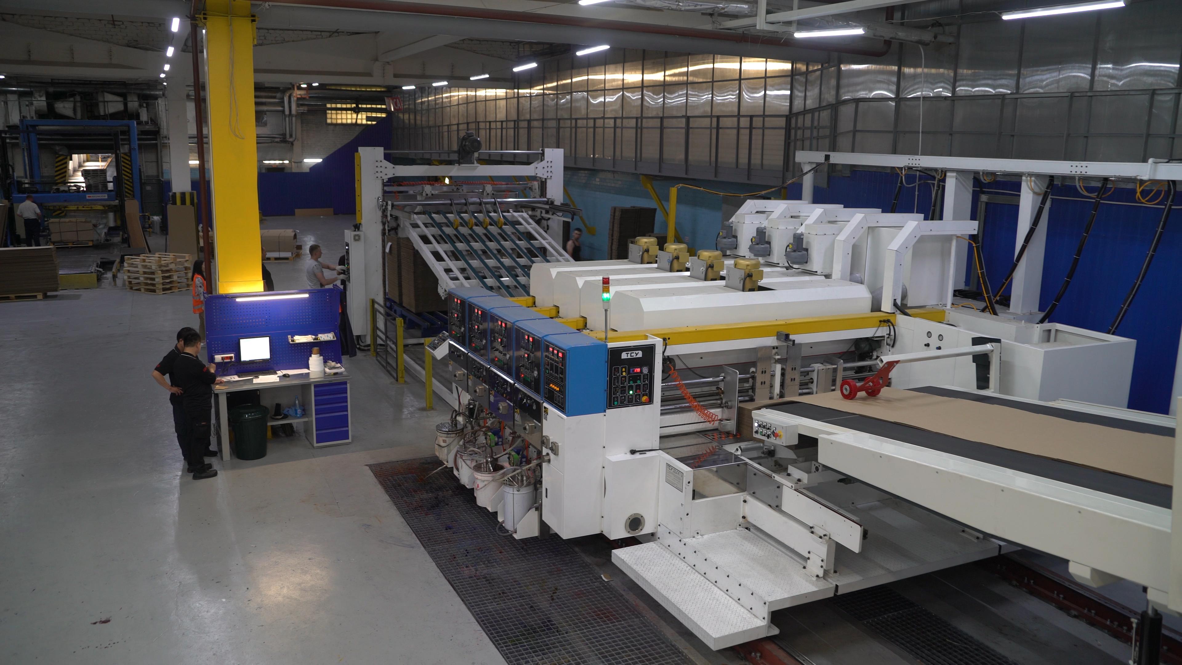 В компании «Готэк» запущена в эксплуатацию новая линия по нанесению 4-х цветной флексографской печати производства компании ТСУ (Тайвань).